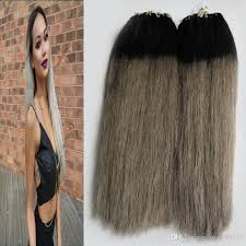 micro ring hair extensions review t1b grey ombre human hair micro link human hair extensions 200g