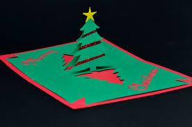 simple pyramid tree pop up card template creative pop