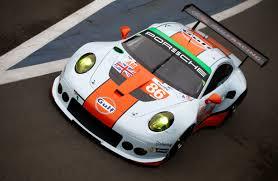gulf racing no 86 gulf racing porsche 911 rsr overhead
