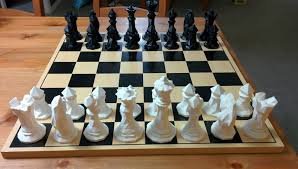 Diy Chess Set by 3d Printed Faceted Chess Set By Thomas Davis Pinshape
