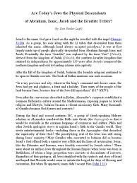 are today u0027s jews the physical descendants of abraham lugt