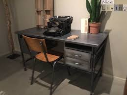 vintage bureau industrieel bureau metaal living