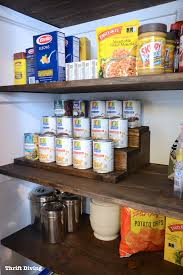 Pantry Shelf Pantry Makeover And Can Food Organizer With Hidden Storage Inside