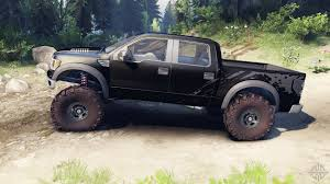 Ford Raptor Truck Black - raptor svt v1 2 factory tuxedo black for spin tires