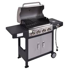 4 burners gas propane bbq grill with casters outdoor grills