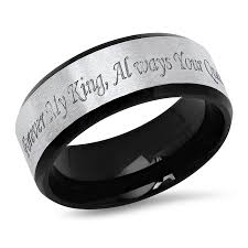 engraved promise rings images Two tone forever my king always your queen stainless steel jpg