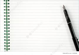 blank writing paper template an open spiral notepad with blank lined paper and a black pen photo an open spiral notepad with blank lined paper and a black pen