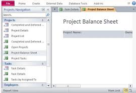 free project management template for access