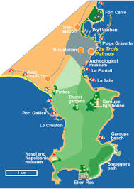 map of antibes les trois palmes
