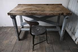 bureau d atelier superbe bureau industriel bois patine grise