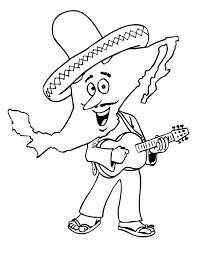 mexican folk dancing mexican fiesta colouring