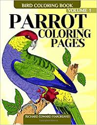 parrot coloring pages bird coloring book volume 1 bird