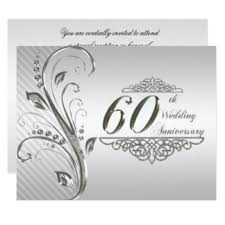 60 year wedding anniversary diamond anniversary invitations announcements zazzle canada