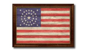 american civil war 34 star union flag patriotic home decor