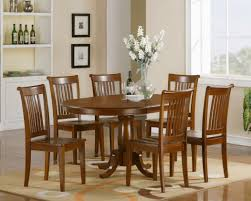 dining gratifying extendable dining table and 6 black chairs