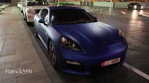 chrome porsche panamera blue satin wrapped porsche panamera 4s youtube