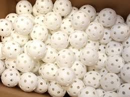 crater floorball white 200 p incl bag big pack balls
