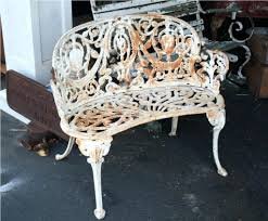 Antique Wrought Iron Patio Furniture by Art Deco 1930s Vintage Cast Iron Bench With Arms New
