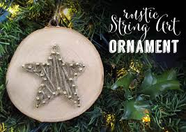 rustic ornaments clumsy crafter
