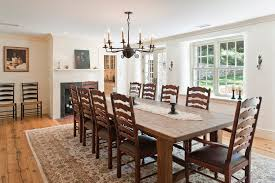 round farmhouse dining table dining room traditional with chairs