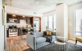 one bedroom model living room verve denver living