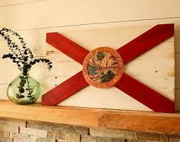 florida wood florida state flag etsy