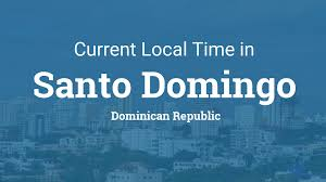 Time Zones World Map by Current Local Time In Santo Domingo Dominican Republic