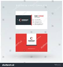 Red Business Cards Doublesided Red Business Card Template Vector Stock Vector