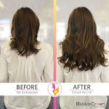 Before After Hair Extensions by Before After U2013 Hidden Crown Hair Extensions