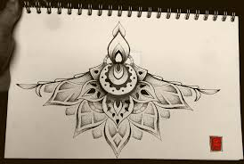under chest tattoo commission by mandaladot on deviantart