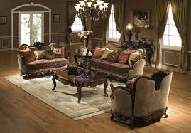 white leather living room set traditional living room furniture brown orange floral pattern