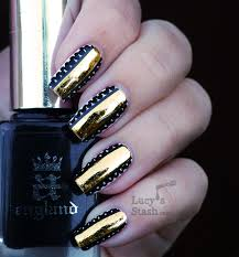 tutorial nail art foil one of the most cool nails pics i ve done so far gold foil stripe