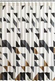 Grey Metallic Curtains Cb2 Triangle Shower Curtain Geometric Form Curtain Designs And