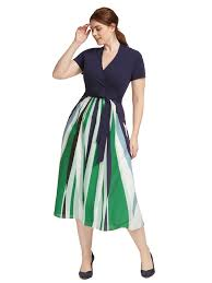 fit and flare dress eshakti abstract stripes fit and flare dress gwynnie bee