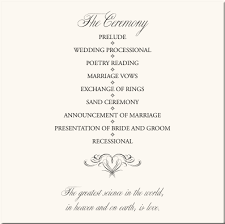 wedding program exles wording wedding party order of service wedding gallery