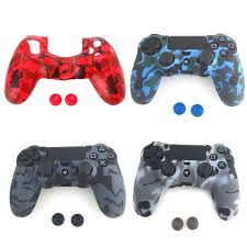 how to change the color of ps4 controller light 1 set new soft camouflage silicone cover 2 thumbstick caps for