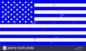 The Amarican Flag The American Flag Blue Version Stock Vector Art U0026 Illustration
