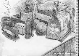 drawing and sketching by artist bernard garcia table top random