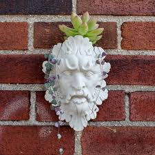face planters face wall planter garden head planter leaf man face design