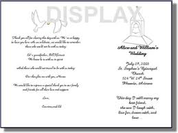 church wedding program template wedding program template order form