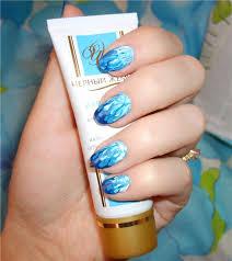 cute blue abstract nail designs for short nails nail art