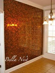 Bathroom Floor Pennies Penny Wall Pennies Applied To Mdf While Lying Flat Then Covered