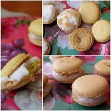 macaron ice cream sandwiches salted caramel or lemon sorbet