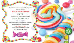 theme invitations 30 candy theme ideas bat mitzvah party sweet 16 or wedding