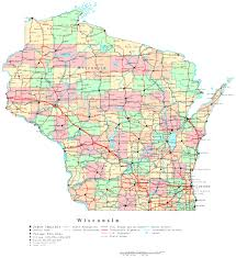 Labeled Map Of North America by Wisconsin Labeled Map