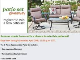 Shopko Outdoor Furniture by Patio Set Giveaway Sweepstakes