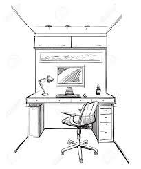 bureau dessinateur accueil bureau de dessin intérieur clip libres de droits