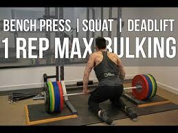 Squat Deadlift Bench Press Workout Vlog 1 Rep Max Bench Press Squat And Deadlift Lean Bulk