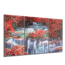 triptych frameless canvas prints wall art picture mangrove forest