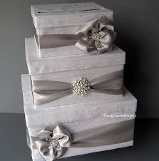 wedding money box white and silver wedding card box money box gift card box money